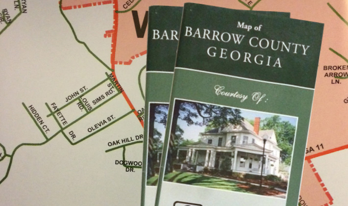 Free Map of Barrow County